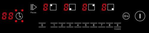 Induktionskochfeld-IN-6804-Anzeige 4-Zonen