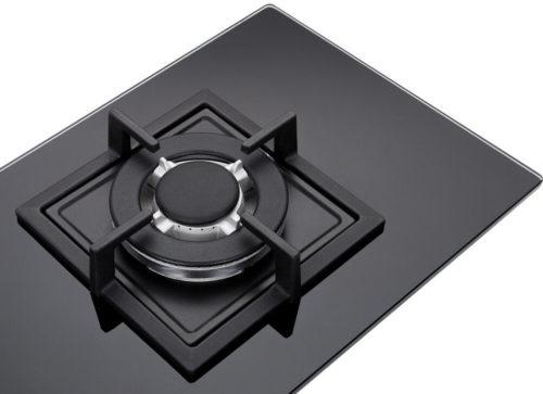 Domino 1-FLAMMIG Glas Gaskochfeld Wok Brenner Erdgas 1Z-KHGW obere Ansicht