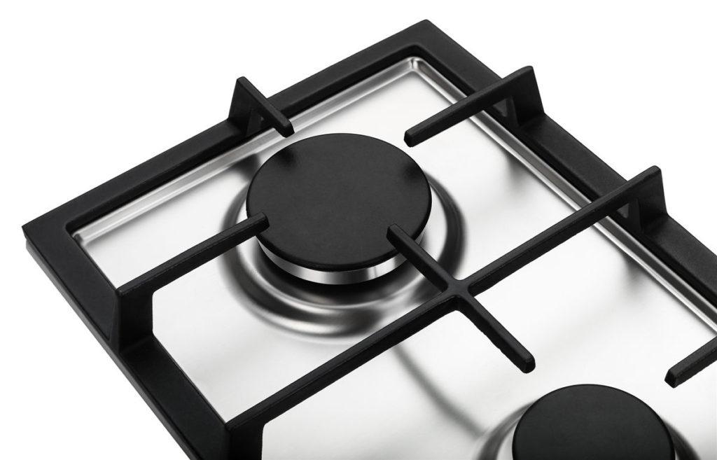 K&H® Domino Edelstahl Gaskochfeld Erdgas 2ZGK-KHSS Kochfeld mit Gas