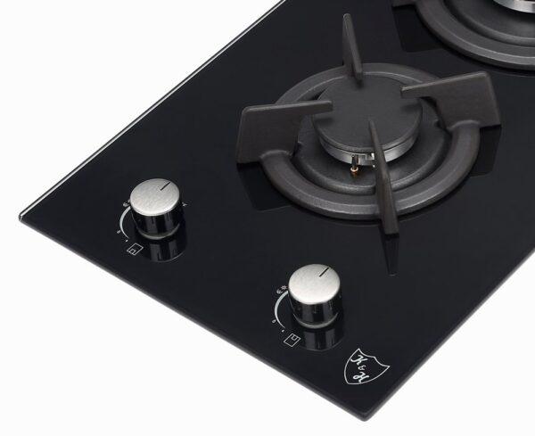 Domino Glas Gaskochfeld Propangas 2Z-KHGX-LPG Schalter